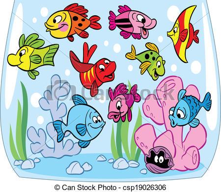Aquarium clipart animated Of Clipart cartoon aquarium Cartoon