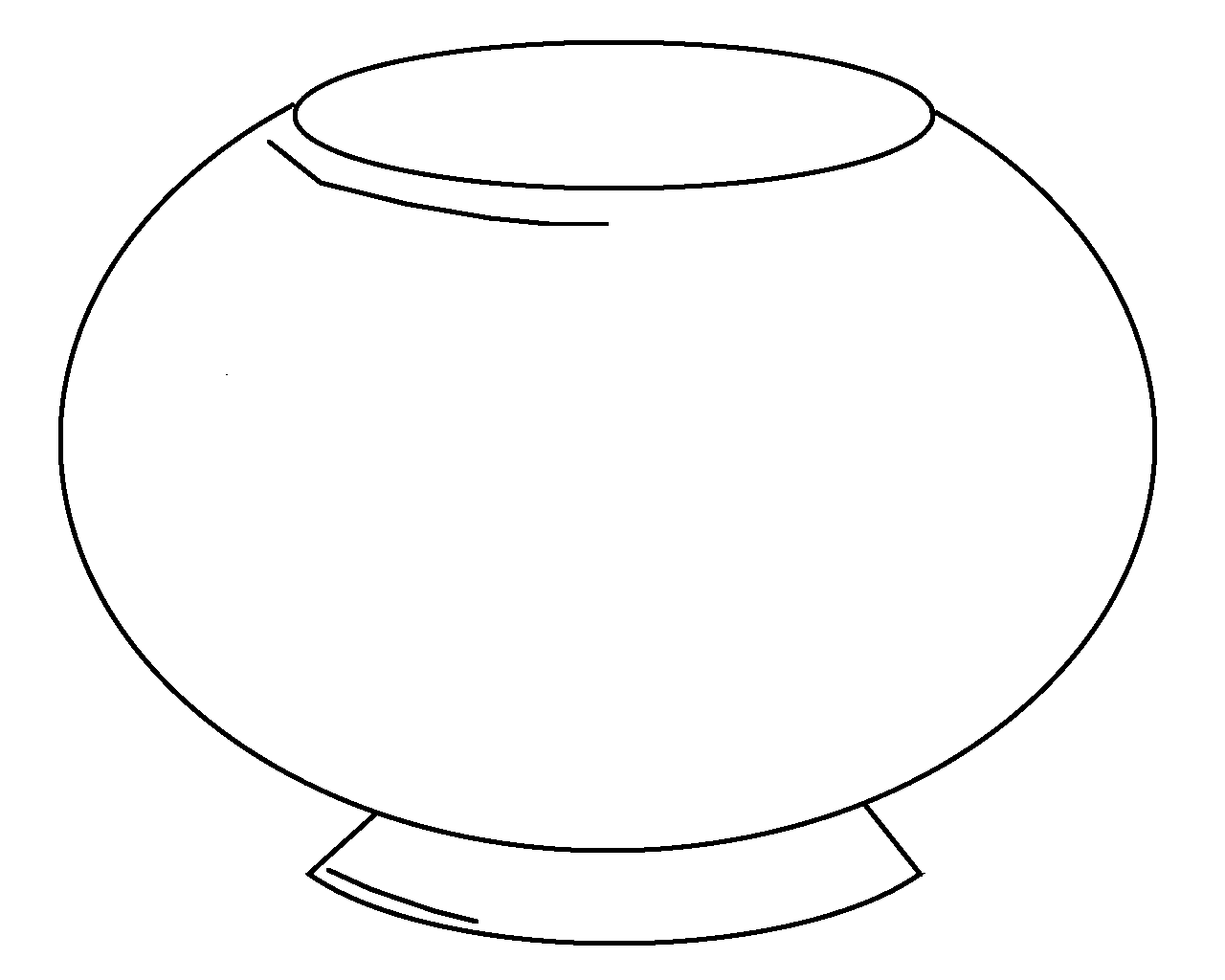 Decoration clipart fish bowl Coloring Empty use to bowl