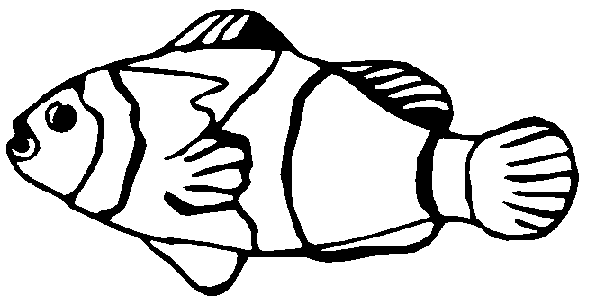 Fins clipart black and white Black Clipart White Fish Aquarium