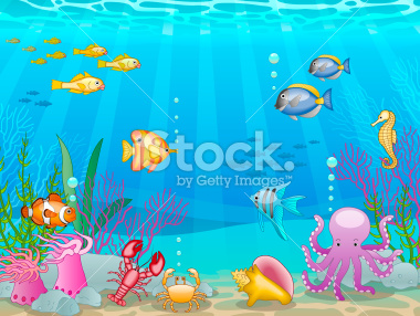Reef clipart underwate scene #1