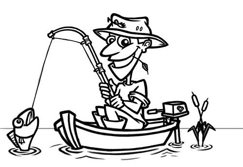 Fisherman clipart animated Art Fisherman  Free Cartoon
