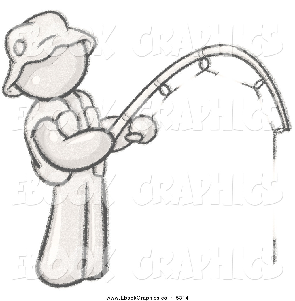 Fisherman clipart animated And Black White Hat Clipart
