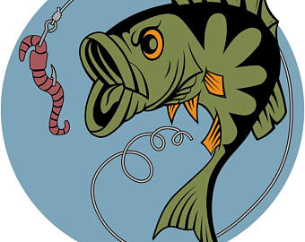 Fisherman clipart bass fishing Collection Big clipart bass Etsy