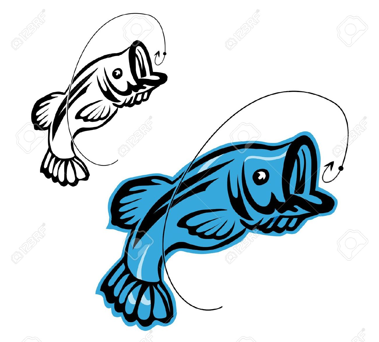 Fisherman clipart bass fishing Clipart clipart Bass free collection