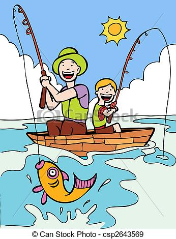 Fisherman clipart boat trip Two 89 Graphics people Fishing