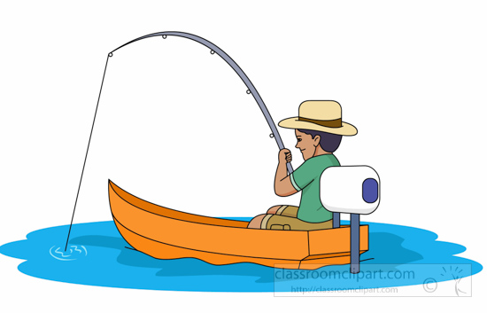 Fisherman clipart boat trip 81 Art Motor Graphics Small