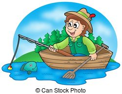 Fisherman clipart boat trip Royalty Downloads with Stock boat