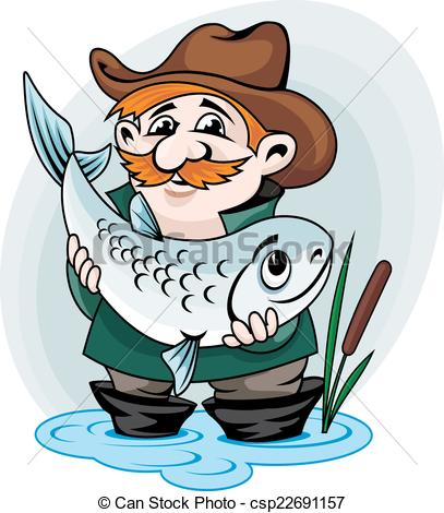 Fisherman clipart catch fish Catch catch Fisherman big of