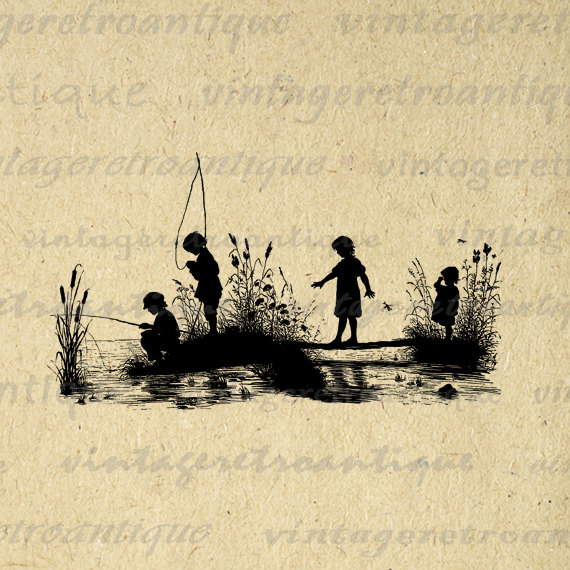 Fisherman clipart child fishing Boy Cute Graphic Png Clip