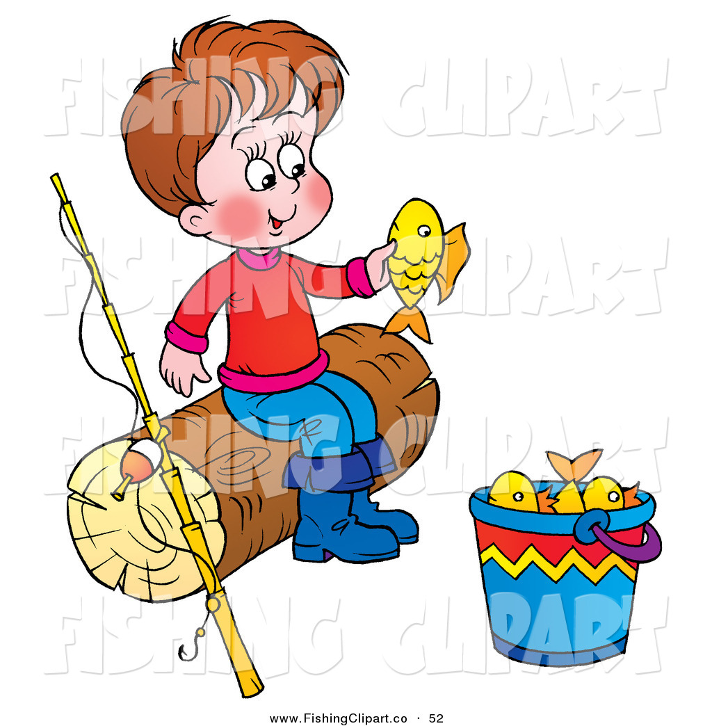 Fishing Rod clipart cute Beside and Caught Fishing He
