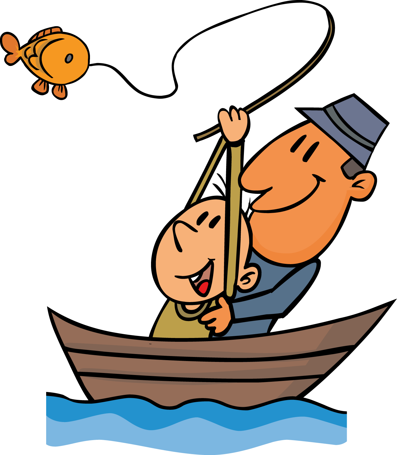 Fisherman clipart go fish #11