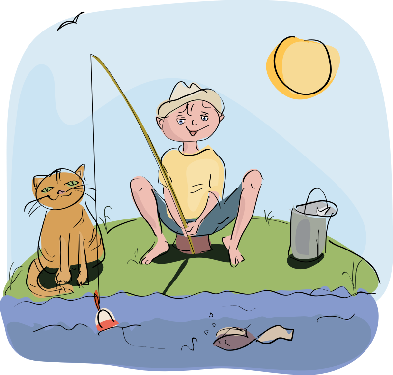 Fisherman clipart go fish #10