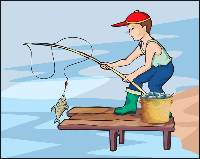Fisherman clipart go fish #1