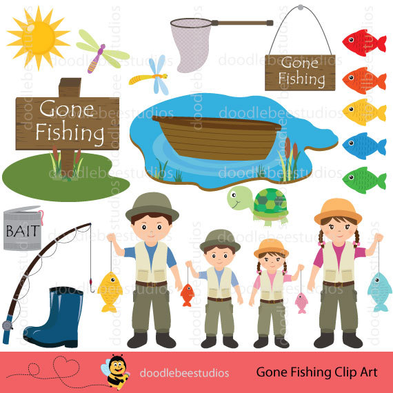 Fisherman clipart gone fishing #6