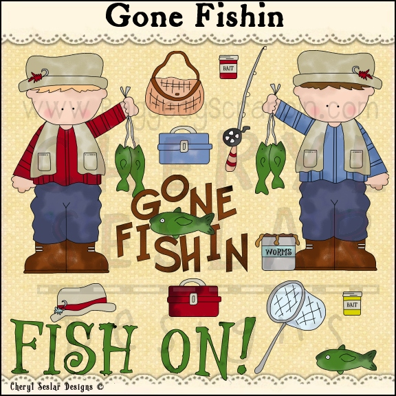 Fisherman clipart gone fishing #2