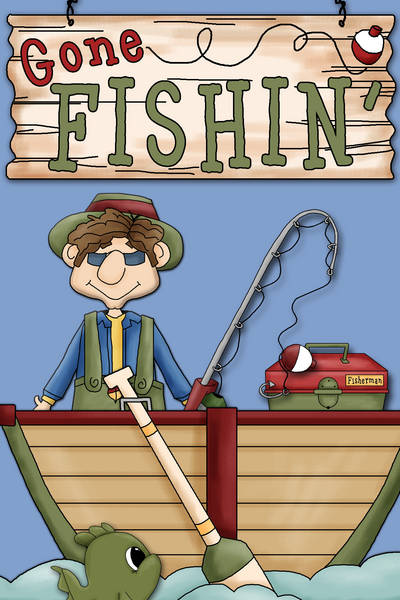 Fisherman clipart gone fishing #8