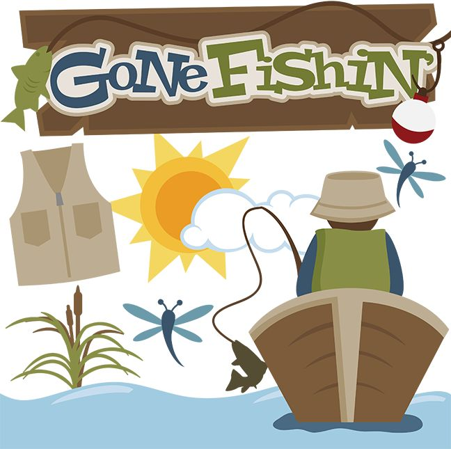 Fisherman clipart gone fishing #14