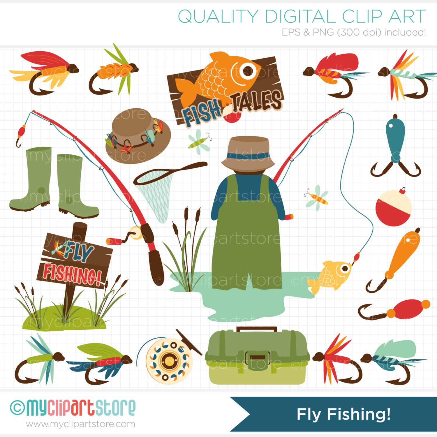 Fisherman clipart gone fishing #3