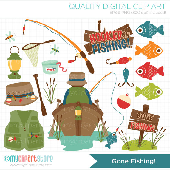 Fisherman clipart gone fishing #5