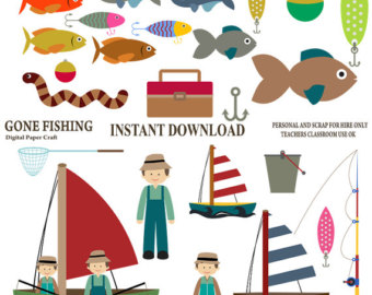 Fisherman clipart gone fishing #9