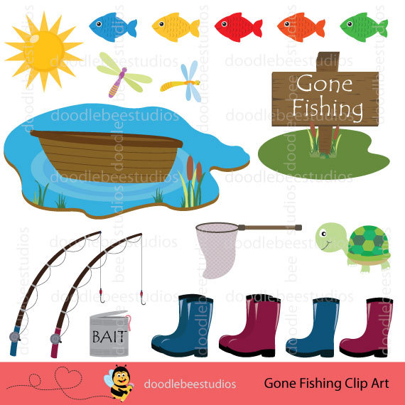 Fisherman clipart gone fishing #10