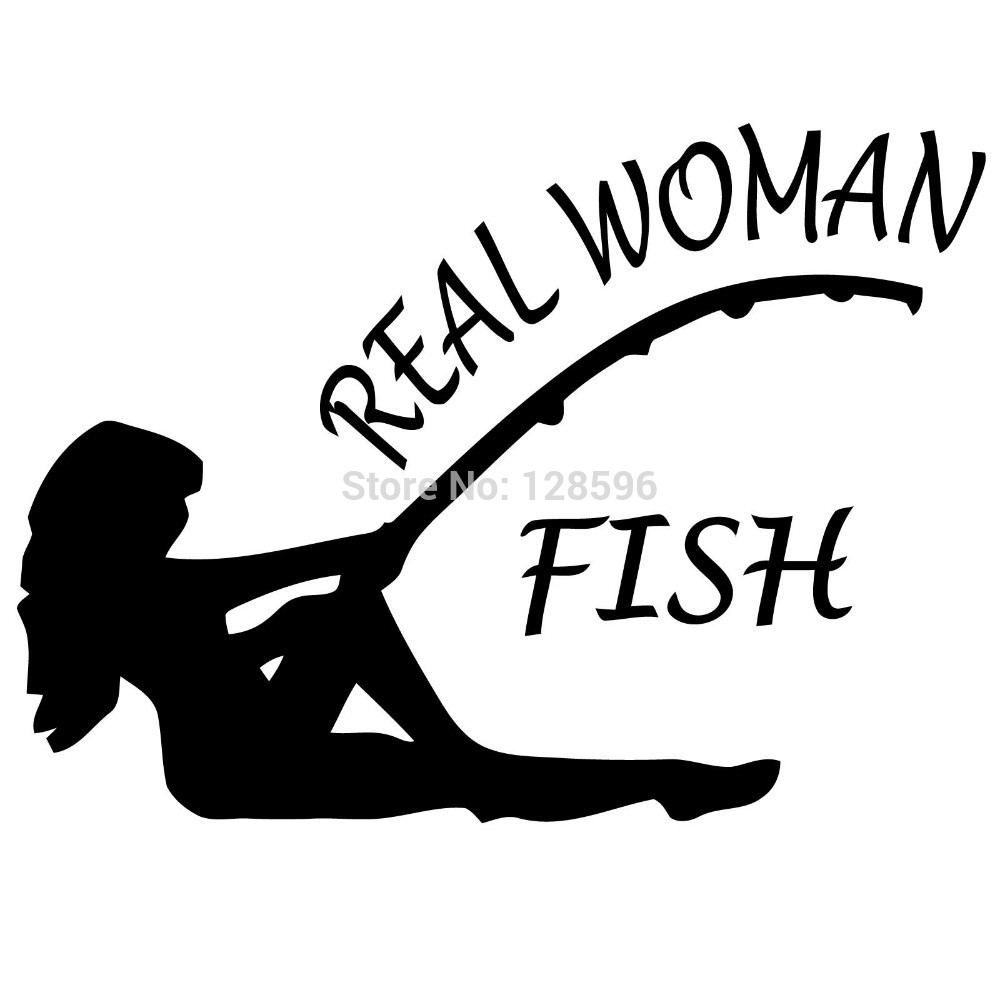 Fishing Rod clipart hunting and fishing Sticker bass woman  on