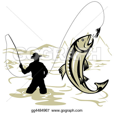 Fisherman clipart large fish Fishing Drawing gg4484967 fly Fly