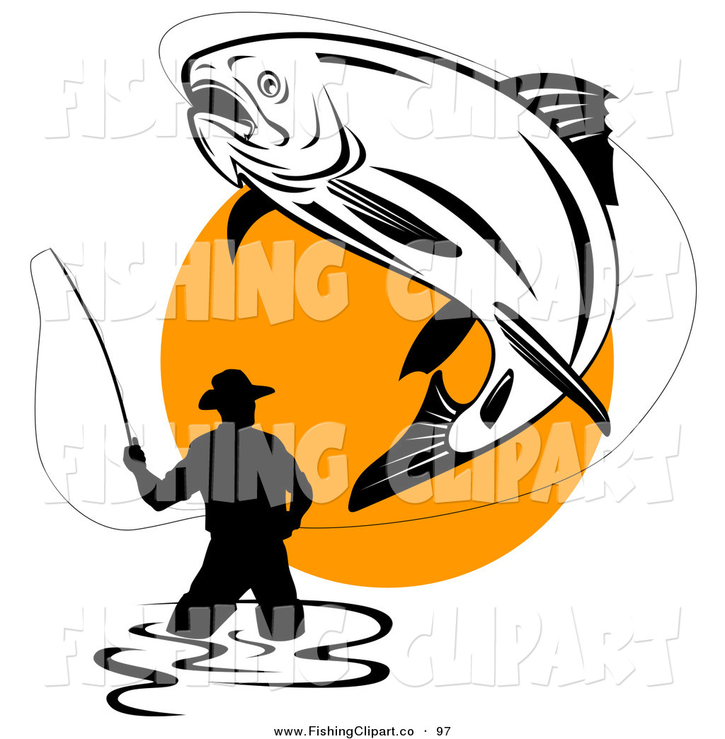 Fisherman clipart large fish Fishing Air Being Free the