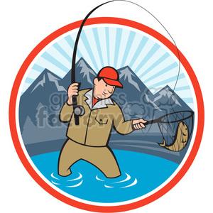 Fisherman clipart net cartoon  net front 388639 vector