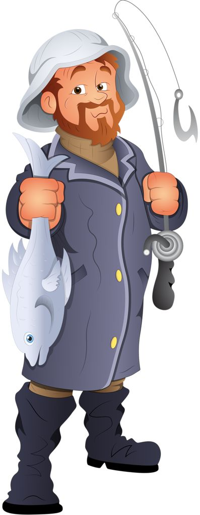 Figurine clipart concerned Fishing stamps on clipart Cards