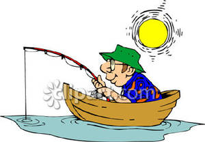 Fishing Net clipart boatman Man Sun Man Fishing Clipart