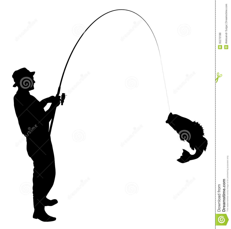Fisherman clipart silhouette #4