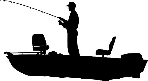 Fisherman clipart silhouette Silhouette  6 Quot Bass