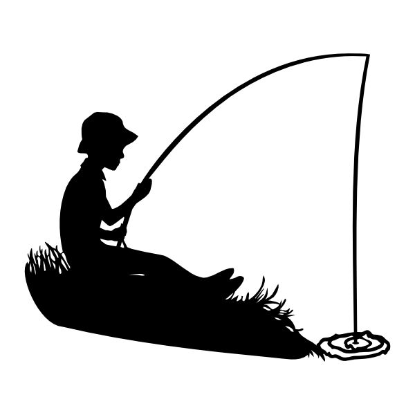 Fisherman clipart silhouette #14