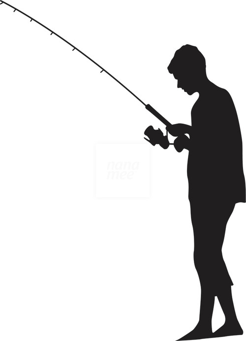 Fisherman clipart silhouette Silhouette man%20fishing%20silhouette Clipart Images Free