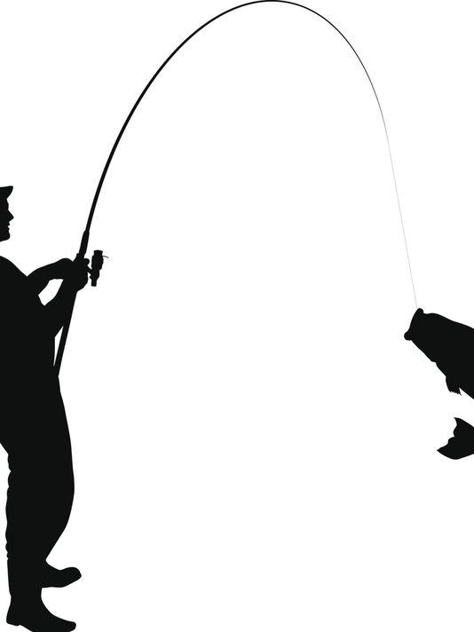 Fisherman clipart silhouette #8