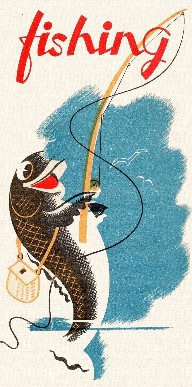 Fisherman clipart vintage fishing Best vintage Vintage fishing Clip