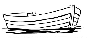 Black & White clipart fishing boat Clipart white WikiClipArt and a