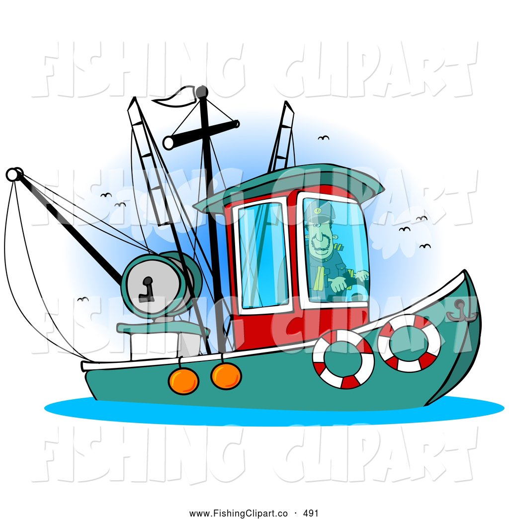 Boat clipart fishing trawler Fishing clip art Fishing Stock