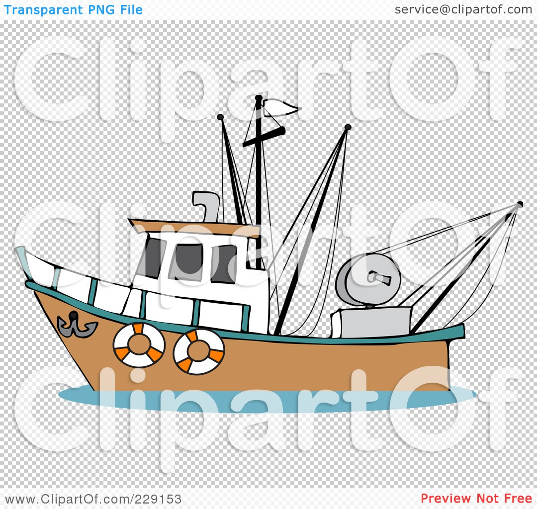 Boat clipart fishing trawler Boat Cartoon boat fishing fishing