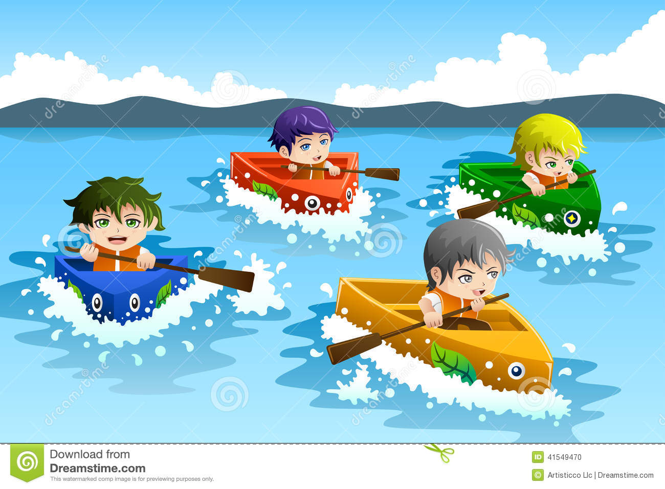 Yacht clipart boat race Kids Boat Race collection clipart