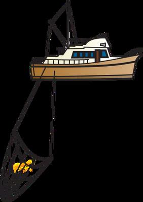 Fishing Net clipart trawler Vector Illustration/Drawing/Symbol Fishing Illustration Trawler