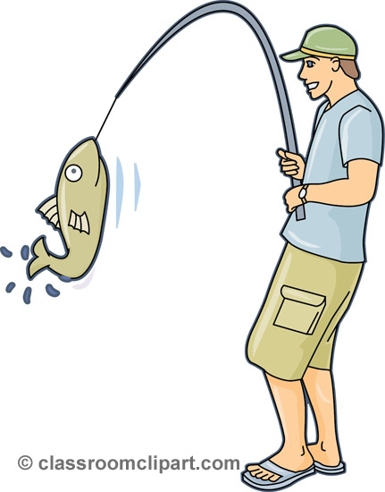 Fishing clipart Sports clip art  clip