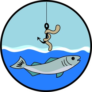 Worm clipart fish hook Art Free Clip Clipart Fishing