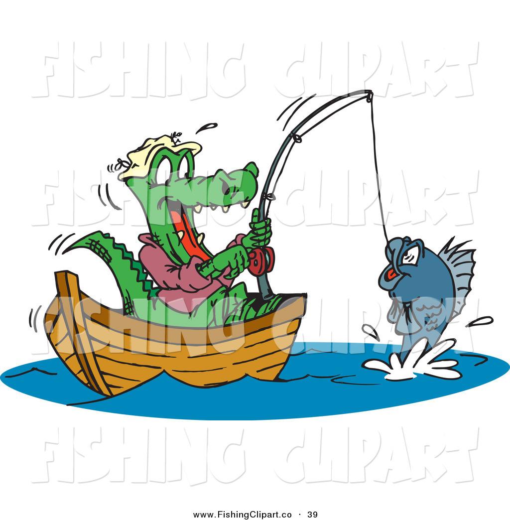 Alligator clipart fish Free Royalty Fishing  Stock