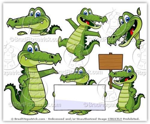 Alligator clipart cute Illustration! Amazon Art Cartoon Alligator
