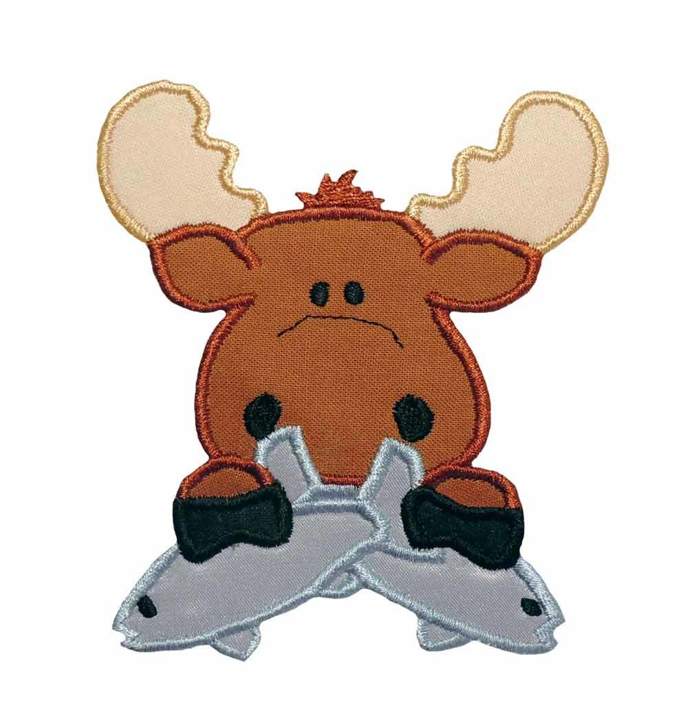 Moose clipart fishing Baby moose Clipart Moose Baby