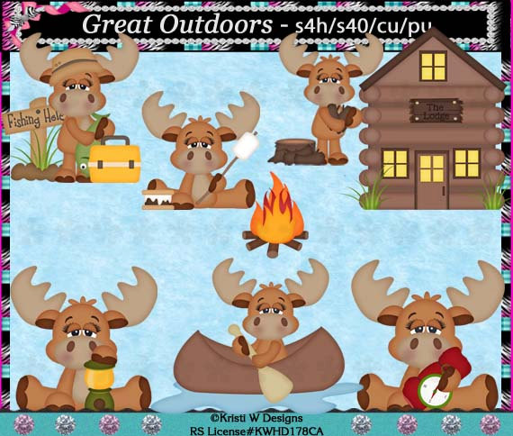 Moose clipart fishing Hunting Elements Use Fishing Download