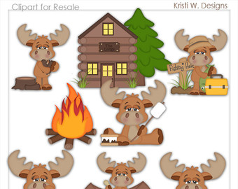 Moose clipart woodland #4