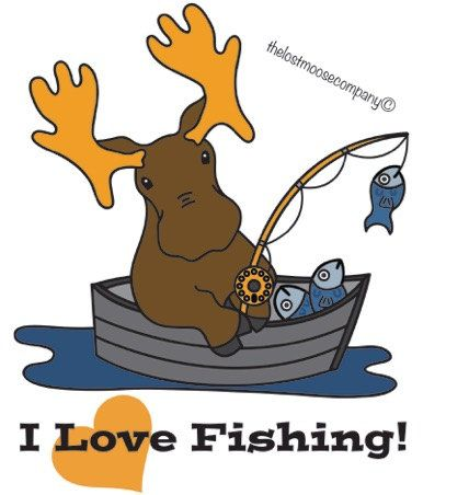 Moose clipart fishing Lost 193 by The TheLostMooseCompany